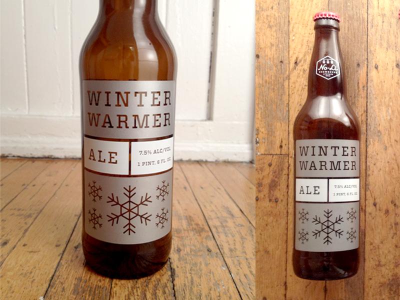 No-Li Winter Warmer beer bottle packaging winter seasonal