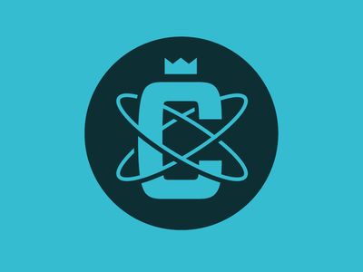 C Logo logo mark c atom crown monogram