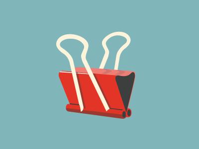 Binderclip illustration office binder clip organization