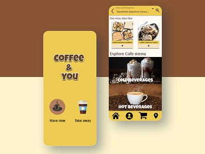 Coffee app UI design food graphic design visual ui app coffee