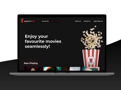 Ticket booking app redesign darktheme visual redesign web app ticketbooking cinema movie