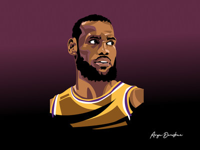 LeBron James: Fan art lakers james lebron lbj basketball fan vector
