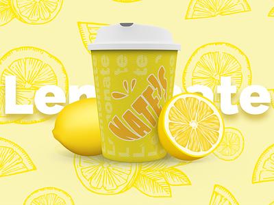 "Nate's ""lemonate"" | Weekly warm-up logo fun summer lemon branding fresh orange yellow lemonade"