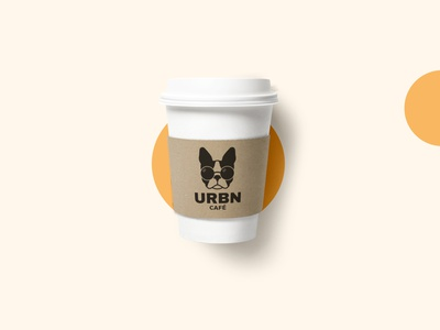 URBN CAFE dog icon coffee logo design coffee logo logotype coffee shop coffee cup dog design coffee illustration branding brand logo
