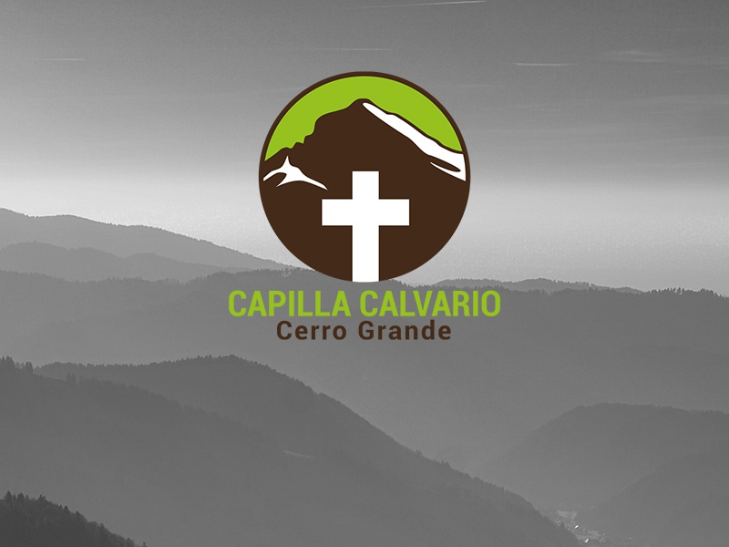 Capilla Cerro Grande church cross mountain brand logo