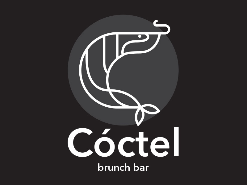 Cóctel brunch coctel brandideas branding sea food brand vector logo