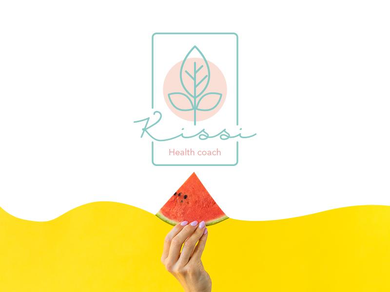 Kissi vector health health coach logo design logotype brand brandign logo