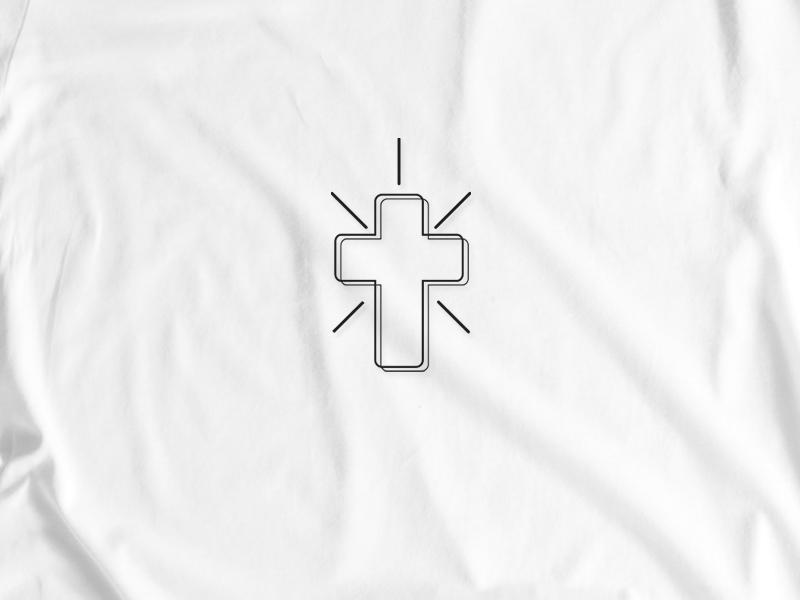 Cross Aime project 4/6 minimal cross tshirt graphics tshirt design tshirt