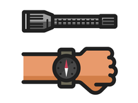 Dailyicon Challenge: Camping icons