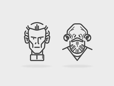 Admiral Ackbar & Moff Tarkin space future icons character wars star tarkin moff ackbar admiral
