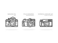 Retro Photography Icons