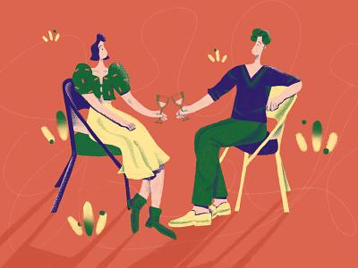 Love Story lovestory couple story love flat vector design art character illustration design