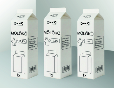 IKEA milk packaging design design milk packaging milk