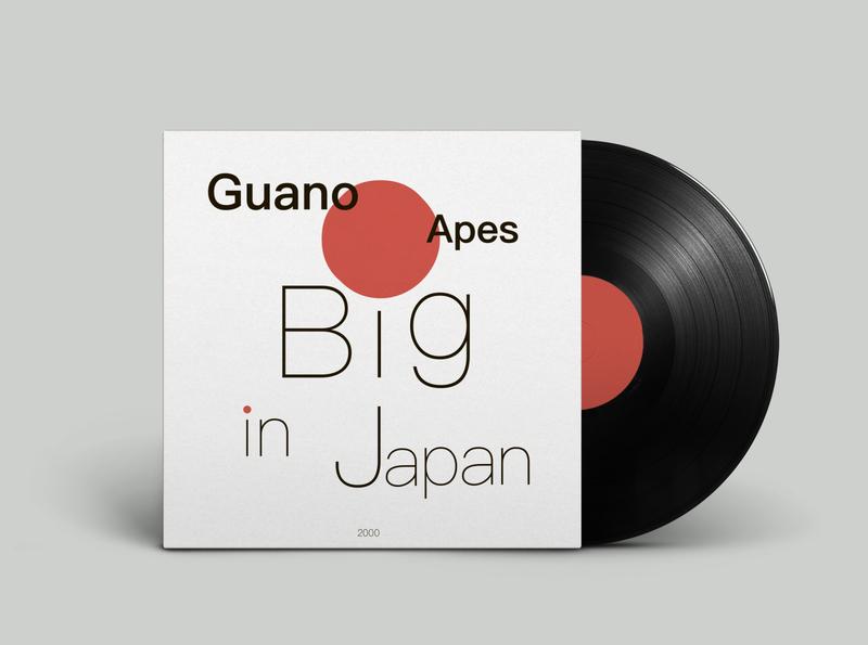 Vinyl cover design Guano Apes design vinyl cover