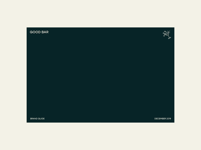 Good Bar – Greenpoint, BK logo typography illustration identity branding design