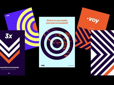 Branding - Voy Media idenity logo branding