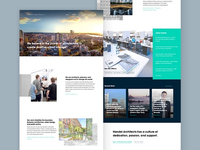 Handel Architects marketing website architecture ux ui design