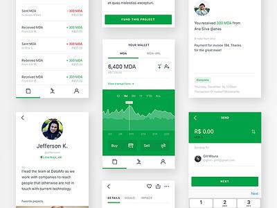 Moeda App android ios social crypto ux ui app