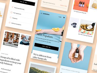 Populum - Mobile Site branding marketing ecommence identity design ux ui website