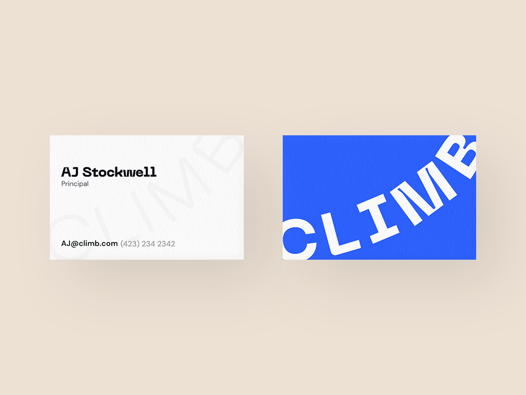 Flat business cards