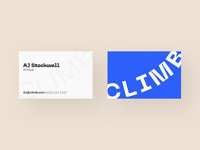 Climb Direction typogaphy identity logo brand