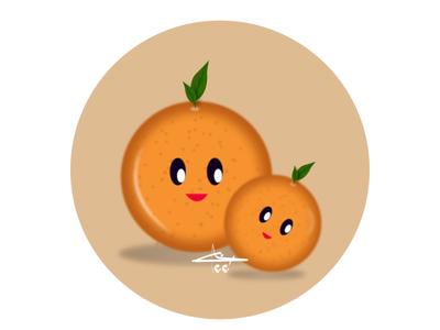 Orange orange flat design creative character 2d art vector drawing illustration flat art design