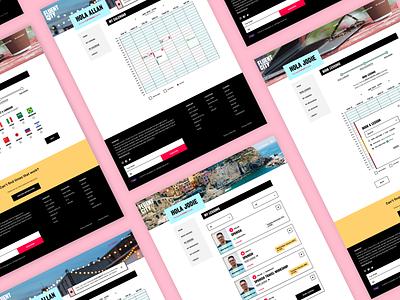 Educational Web App flat colorful technology elearning education modern minimal creative app app design agency daily ui interface custom ux ui  ux ui software web app