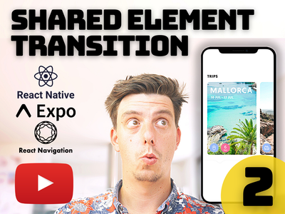 Ep.2 - React Native Shared Element Transition [YouTube] shared element transition patreon github parallax scrolling carousel animated cards youtube tutorial youtube tutorial animation react native