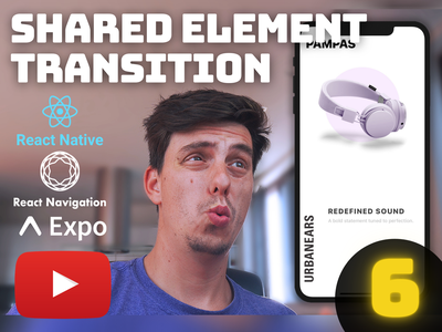 Ep.6 - React Native Shared Element Transition [YouTube] reactjs carousel react native ios react native tutorial stagger animation ticker animation shared element react native animation animated cards youtube open source youtube tutorial tutorial animation react native