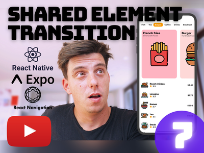 Ep.7 - React Native Shared Element Transition [YouTube] tabs animation react native tabs react native animation shared element carousel ios youtube tutorial open source github youtube tutorial animation react native