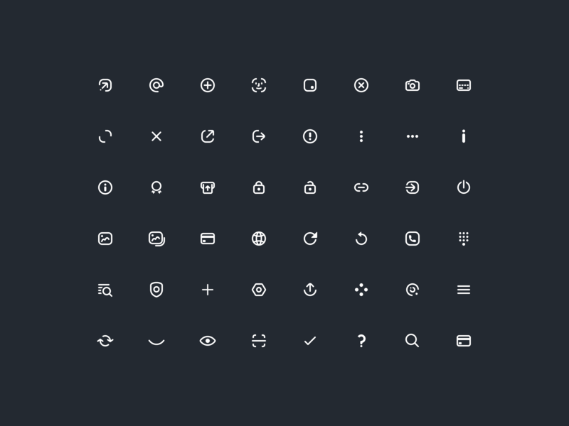 VIABUY App UI Icons Outlined outlined icons ui icons icons icon design iconset viabuy