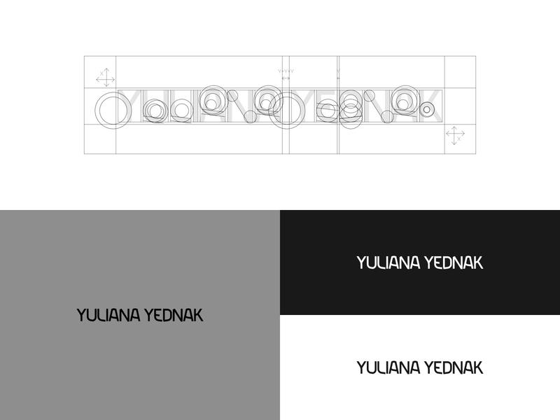 Custom Logo for Yuliana Yednak hairstylist branding hairstylist custom logotype design custom logotype logotype design logotype logo grid custom logo design custom logo logo design logo