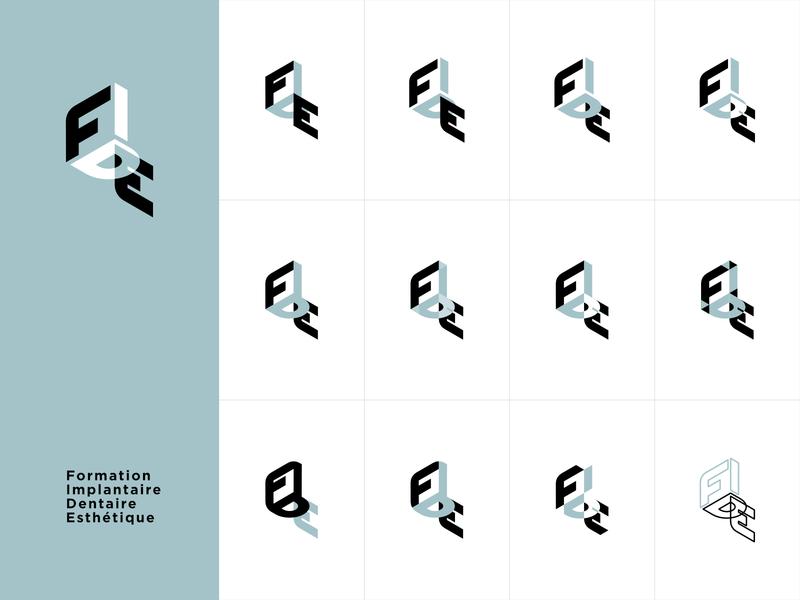 FIDE Logomark Exploration dental aesthetics implantology branding logo design logomark exploration logomark