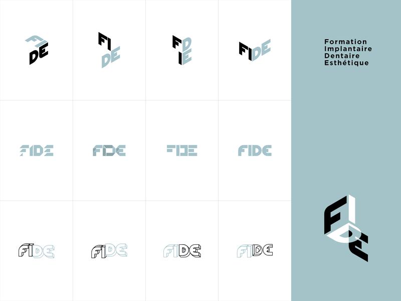 FIDE Logomark Alternative Versions implantology dental aesthhetics branding logomark design logo logo design logomark