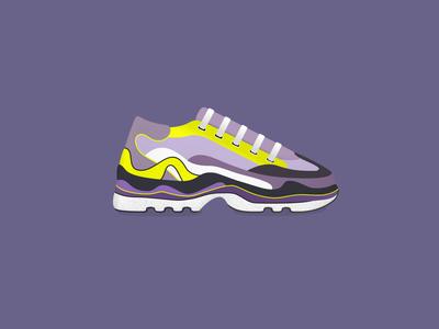 Sneaker illustration footwear shoe sneaker