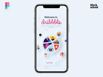 Hello Dribbble ui app mobile app figma skeuomorphism neuomorphism dribbble invite