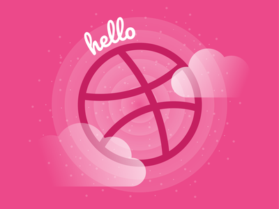 Hello Dribbble! hello vector illustration