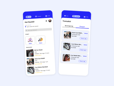 Vehicle Wash App ui design trending uiux ux vehicle wash car wash service app car mobile app minimal clean booking mobile ui mobile design design daily ui ui