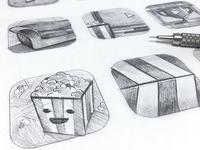 Tribeca Shortlist: App Icon Sketches