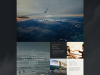 SurfAir Homepage Design