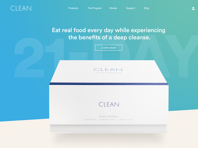 The Clean Program: Design Details 1 website landing page product photography warm bright detox consumer health cleanse