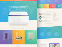 The Clean Program: Landing Pages