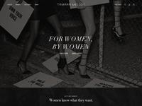 Tamara Mellon Design Exploration: Homepage Detail 1