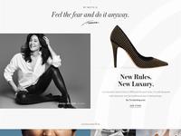 Tamara Mellon Design Exploration: Homepage Detail 3