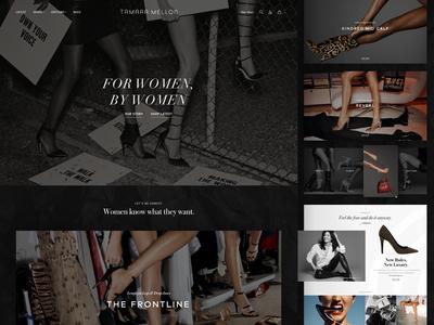 Tamara Mellon Design Exploration: Homepage Full shopify shoes minimal luxury brand luxury landing page homepage high-end fashion ecommerce