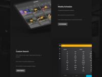 Romwod: Features Design Exploration landing page layout dark conversion crossfit san diego marketing tour walkthrough app features
