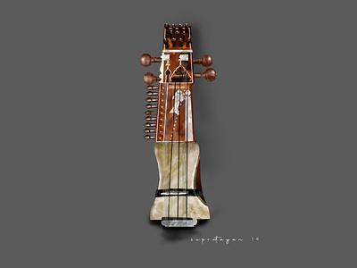Sarangi Instrument illustration design