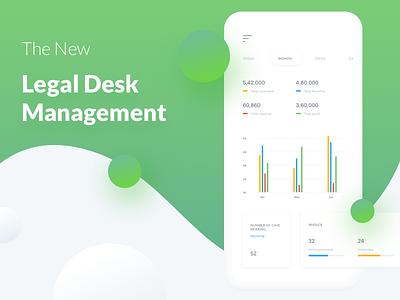legodesk Mobile gradient mobile ui dashboard