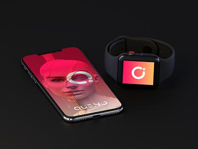 Queno pink ui iphonex apple watch splash screen