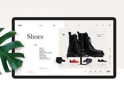 Zara Collection fashion ui white minimal website zara